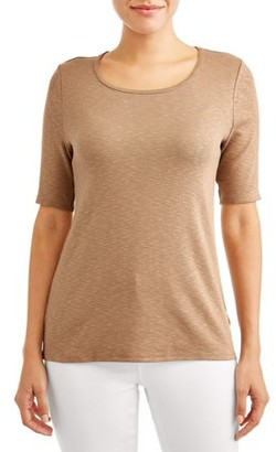 Time and Tru Women's Scoop Neck T-Shirt