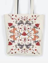 Fat Face Floral Horse Cotton Shopper Bag