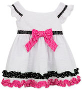 Rare Editions Polka Dot Detail Dress, Toddler and Little Girls (2T-6X)
