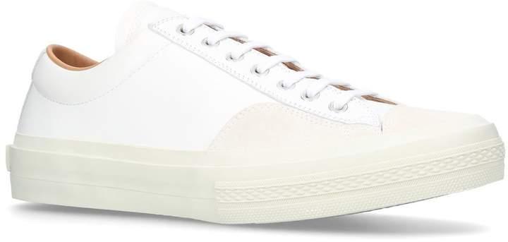 Dries Van Noten Leather Low-Top Sneakers
