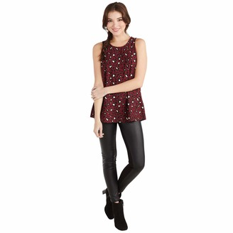 Mud Pie Women's Burgundy Leopard Burch Layering Tank in Individual Sizes Small