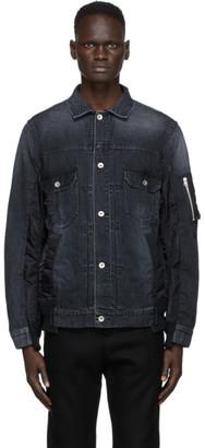 Sacai Black Denim MA-1 Jacket