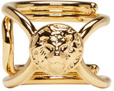 Versus Gold Dainty Lion Ring