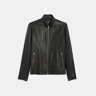 Theory Zip Jacket in Leather