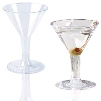 clear Smarty Had A Party Plastic Martini Glasses - 2oz Mini Disposable Cocktail Cups (16 Glasses)