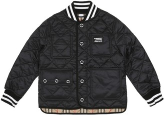 BURBERRY KIDS Quilted varsity jacket