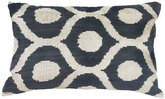 Orientalist Home Elma 16x24 Lumbar Pillow - Black/Cream