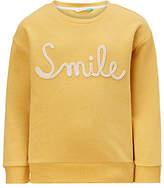 John Lewis Girls' Smile Sweatshirt, Yellow
