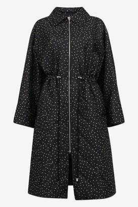 Baum und Pferdgarten Dillian Black Straw Flying Dots Coat - Sz XS | polyester | black | Off White / Black - Black/Black