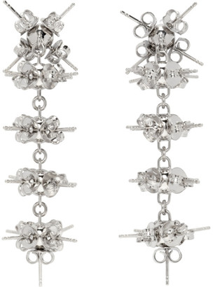 D'heygere Dheygere Silver XL Stud Earrings