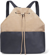 Brunello Cucinelli Smooth And Textured-Leather Backpack