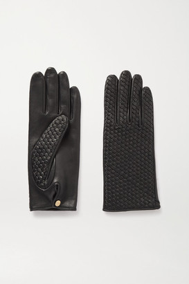 Agnelle Chloe Woven Leather Gloves