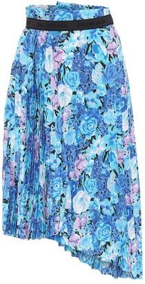 Balenciaga Floral midi skirt
