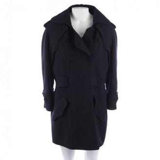 Fendi Navy Wool Coat for Women