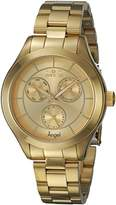 Invicta Women's 'Angel' Quartz Stainless Steel Casual Watch, Color:Gold-Toned (Model: 21694)