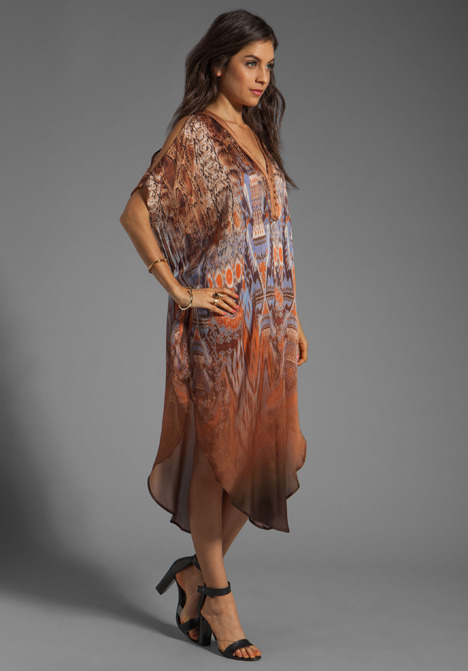 Twelfth St. By Cynthia Vincent By Cynthia Vincent Gold Shoulder Ombre Caftan