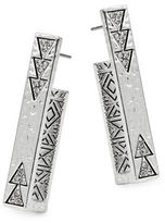 House Of Harlow Triangle Accented Square Bar Earrings