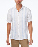 Tasso Elba Men's Embroidered Pintucked Linen Shirt