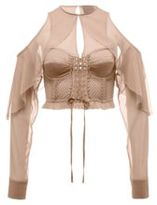 Puma Mesh & Bustier Top with Sleeves