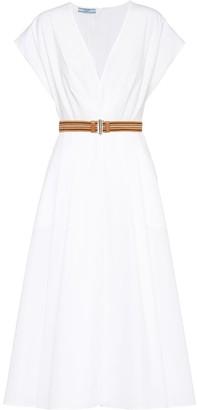 Prada Poplin Midi Dress