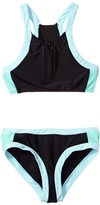Seafolly Aztec Tapestry Zip Front Tankini Set Girl's Swimwear Sets