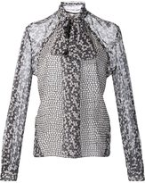 Carolina Herrera pussy bow georgette blouse