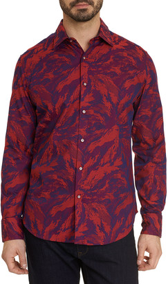 Robert Graham Men's Expressionist Abstract Print Sport Shirt