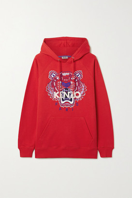 Kenzo Embroidered Cotton-jersey Hoodie - xx small