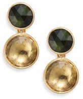 Marco Bicego Jaipur Lemon Citrine, Green Tourmaline & 18k Yellow Gold Drop Earrings
