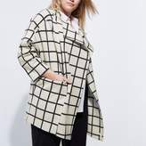 River Island Womens Plus cream check fallaway jacket