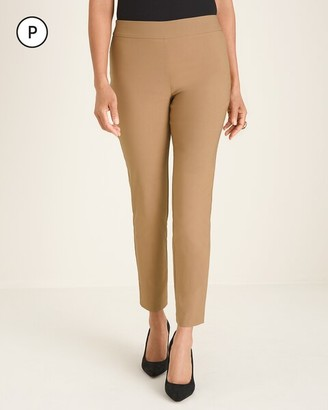 BRIGITTE Petite Back-Slit Slim Ankle Pants