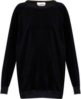 Chloé Round-neck velvet sweatshirt