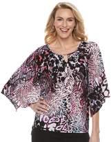 Dana Buchman Women's Print Kimono-Sleeve Top