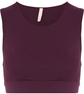 NO KA 'OI No Ka'Oi - Lani Stretch-jersey Sports Bra - Burgundy
