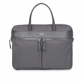 """Knomo Hanover Slim Briefcase 14"""" Grey"""