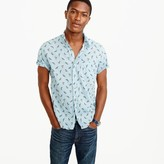J.Crew Short-sleeve shirt in trout print