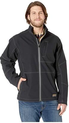 Ariat Big Tall Rebar Stretch Canvas Softshell Jacket (Black) Men's Coat