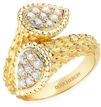 Boucheron Serpent Boheme 18K Yellow Gold & Diamond Toi Et Moi Ring