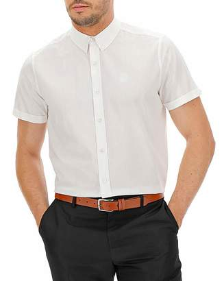 Jacamo White Button Down Collar Shirt Long