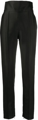Alexandre Vauthier High-Waist Pleated Trousers