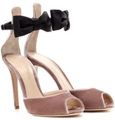 Gianvito Rossi Exclusive to mytheresa.com – velvet and satin sandals
