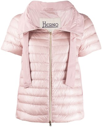 Herno short sleeve puffer jacket