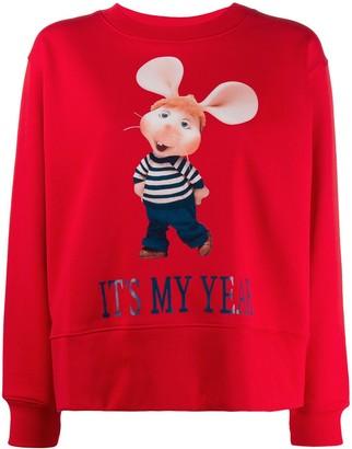 Alberta Ferretti Topo Gigio print sweatshirt