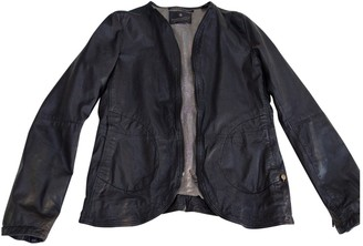 Maison Scotch Black Leather Leather Jacket for Women