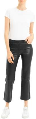 Theory Leather Cropped Pants