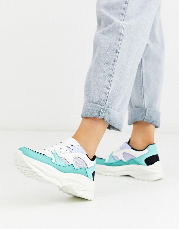 Asos DESIGN Degree chunky sneakers in