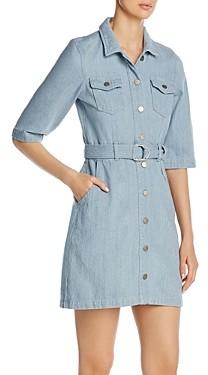 Vero Moda Belted Jean Dress in Light Blue