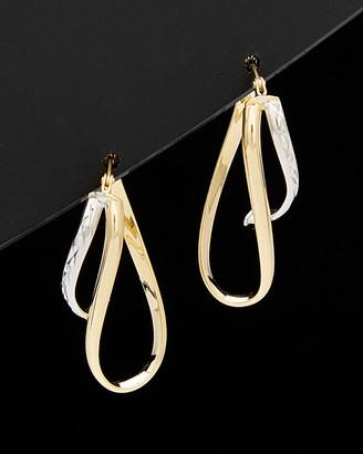 Italian Gold 14K Two-Tone Twisted Hoops