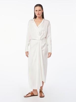 Frame Twisted Wrap Shirt Dress