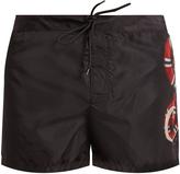 Gucci Snake-print taffeta swim shorts